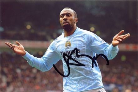 Darius Vassell, Manchester City & England, signed 6x4 inch photo.